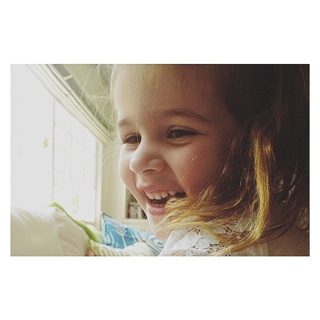 Harper Smith was all smiles for her mom, Tiffani Thiessen. Source: Instagram user tathiessen