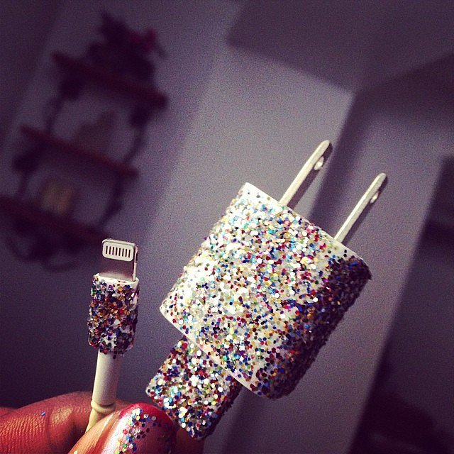 Use Nail Polish to Decorate Phone Chargers