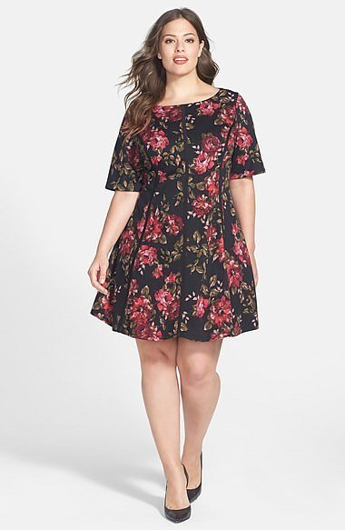 Gabby Skye Plus-Size Floral Dress