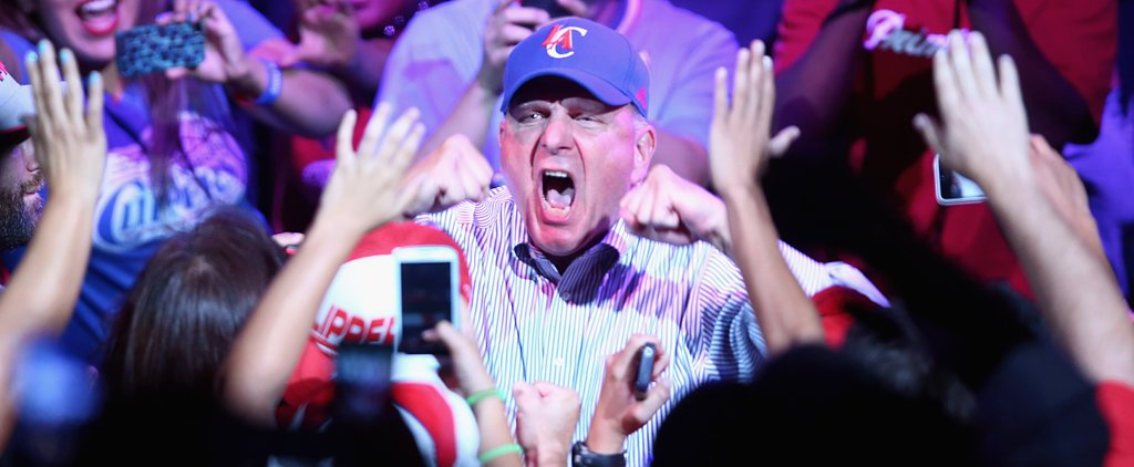 Steve Ballmer Makes First Clippers Appearance, Loses His Mind