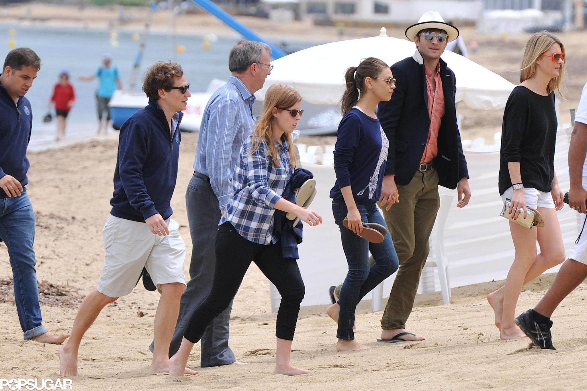Ashton Kutcher and Princess Beatrice