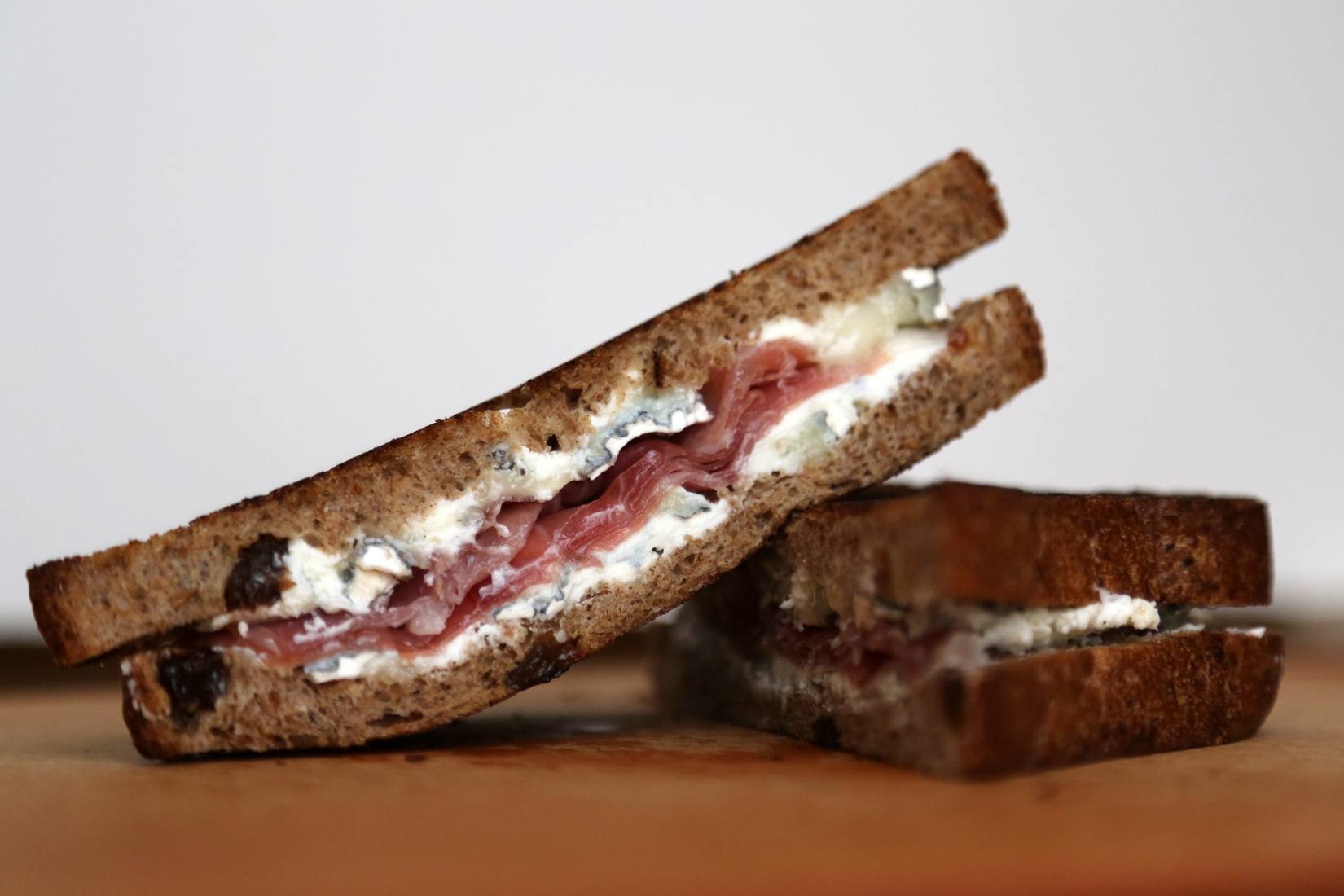 Humboldt Fog and Prosciutto Grilled Cheese