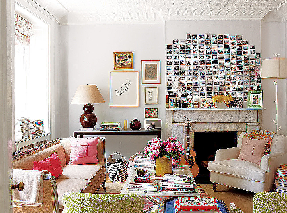 Party with polaroids 11 artsy ways to display family - Decorating walls with pictures ...