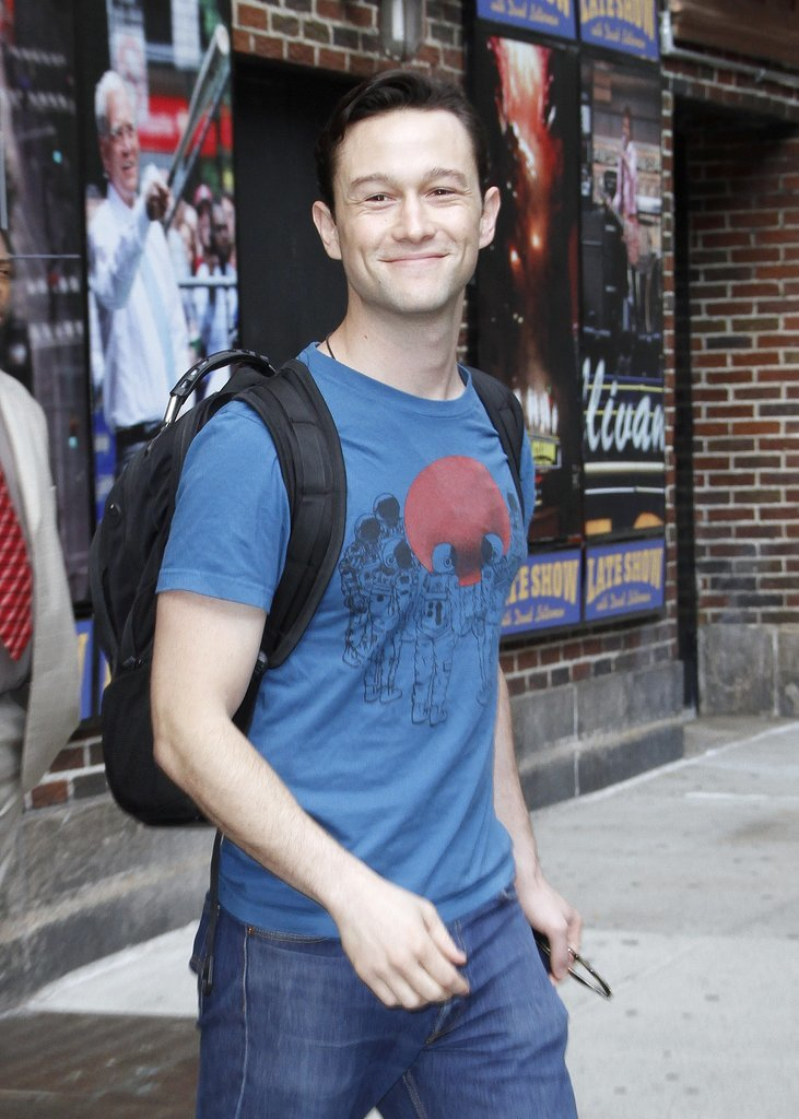 Joseph Gordon-Levitt opted for a casual look — complete with a backpack! — after his appearance on the Late Show With David Letterman in NYC on Tuesday.