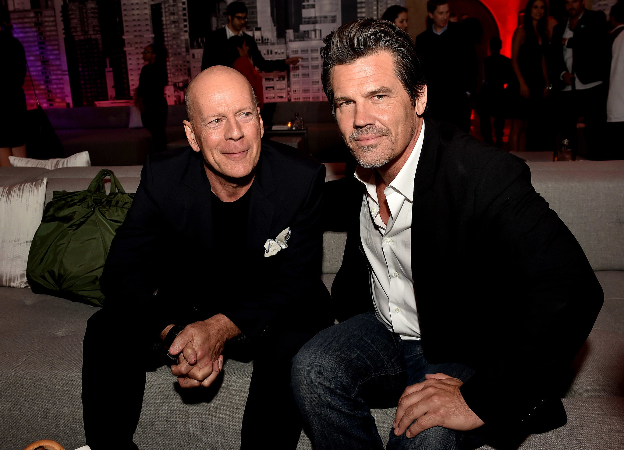 Photo of Josh Brolin & his friend actor  Bruce Willis - Sin City