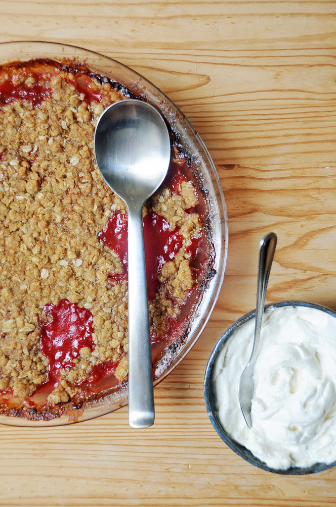 Strawberry Rhubarb Crumble | 35 Gorgeous Strawberry Desserts You Need ...