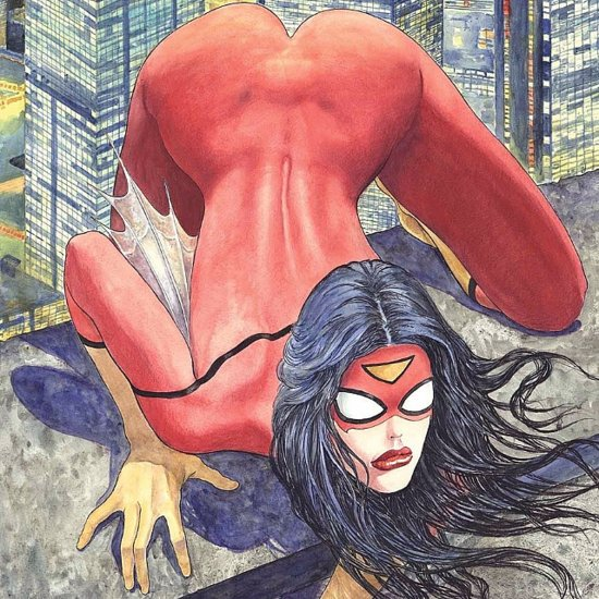 Spider-Woman Comic Butt Cover