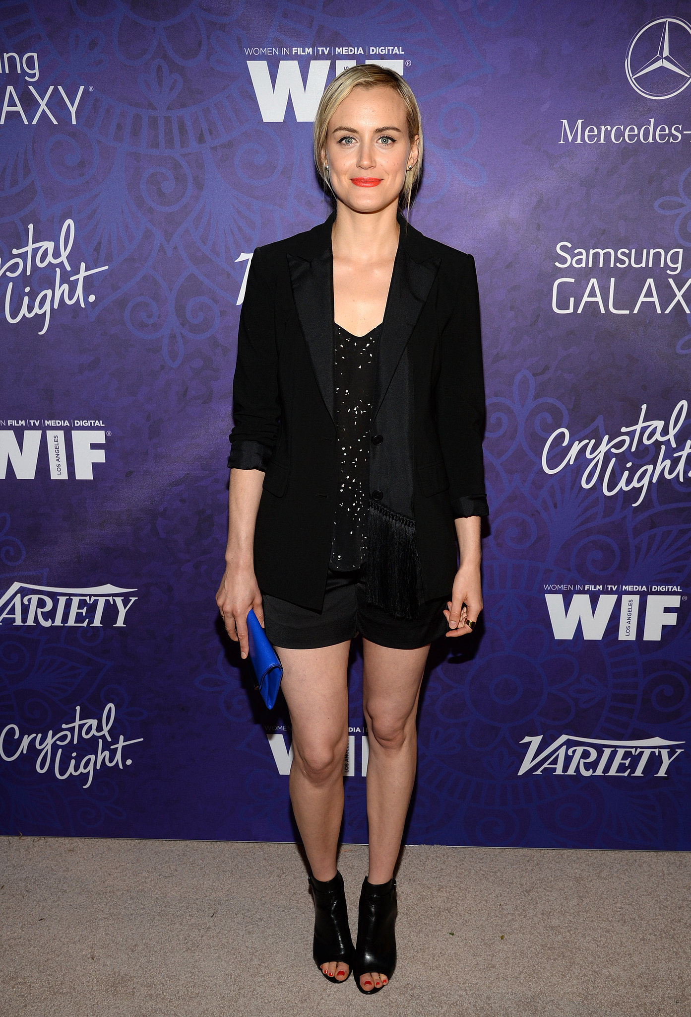 Taylor Schilling went for a black look.