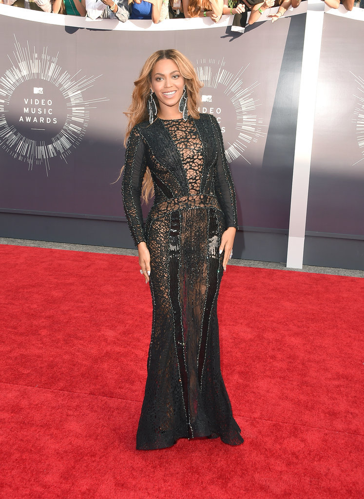 2014: After a three-year VMAs hiatus, Beyoncé blessed the red carpet in a floor-length gown.
