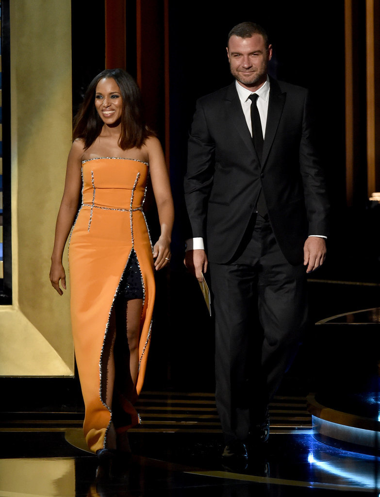 Kerry Washington and Liev Schreiber made a pretty pair when they presented together.