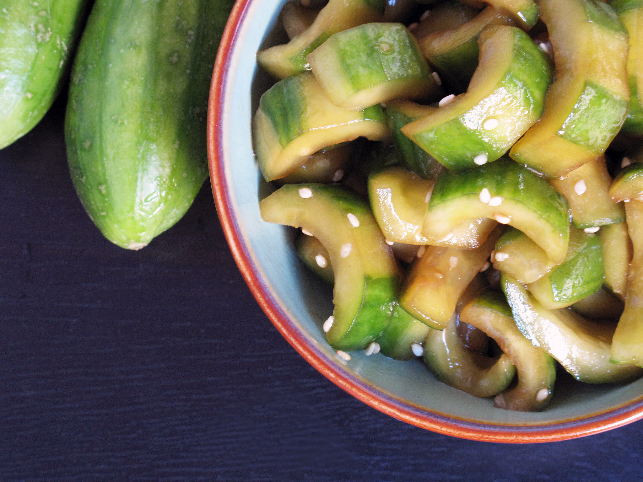 Sesame and Soy Cucumber Salad