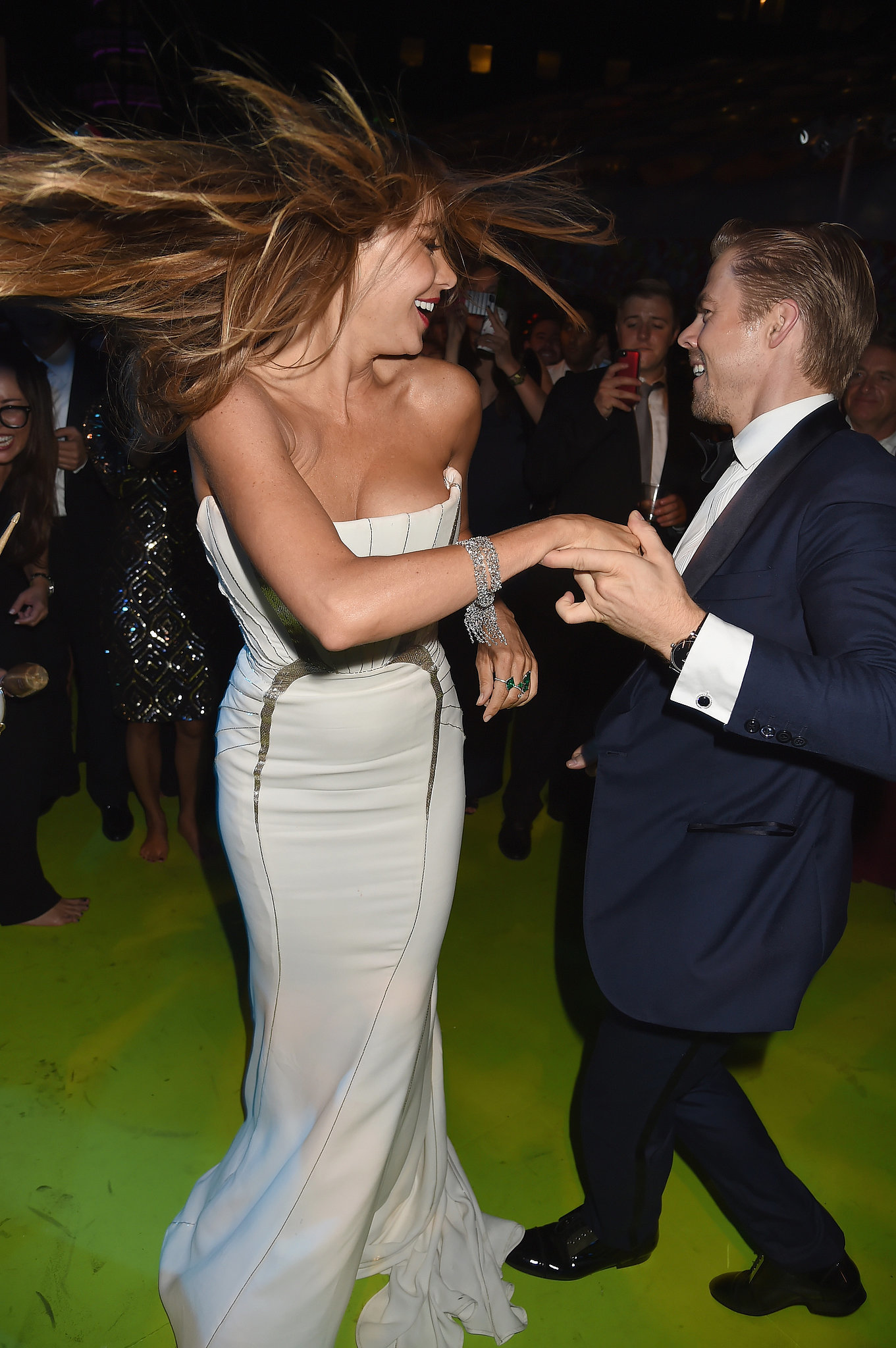 Sofia Vergara danced the night away with Derek Hough at the HBO Emmys afterparty.