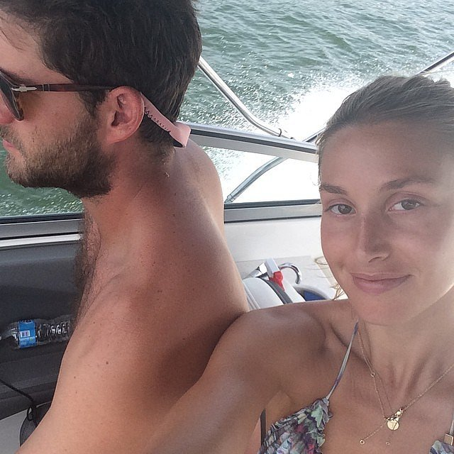 Whitney Port took a selfie while on a boat. Source: Instagram user whitneyeveport
