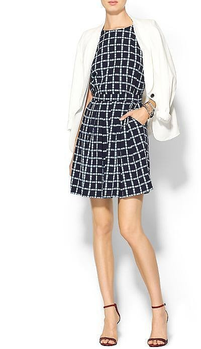 Tinley Road Windowpane-Print Dress