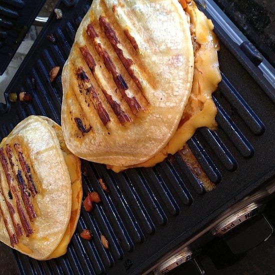 Pressed Chicken Fajita Burger