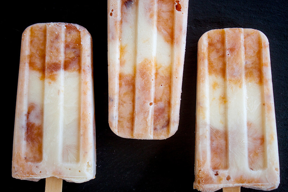 Or you can make some mango sriracha pops if that's more your speed. But if you like this fuzzy fruit of Summer, I think you'll agree these honey-sweetened, yogurt-filled swirls of beauty are just peachy.