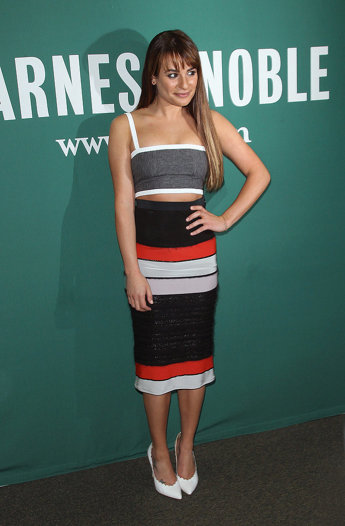 Lea Michele at a Barnes & Noble Signing