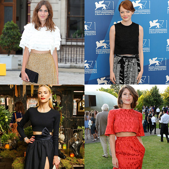 Celebrities Wearing Crop Tops Summer 2014
