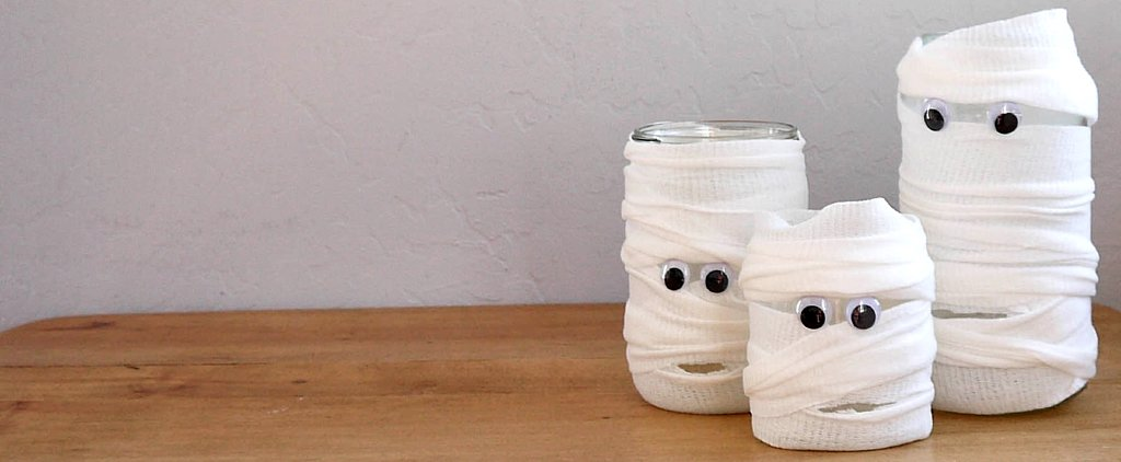 DIY Mummified Jars For Halloween Fun