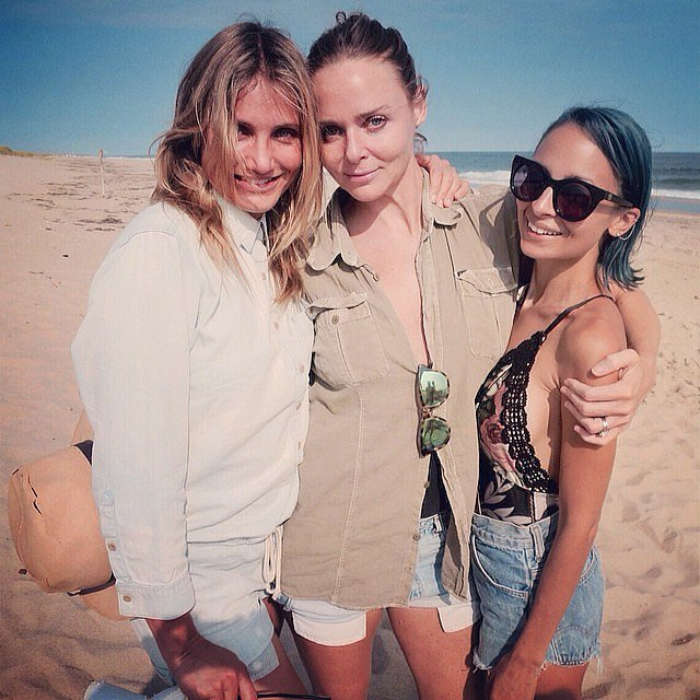 """I want to be a Charlie's angel!"" Stella McCartney wrote in the caption for this beach snap with Cameron and Nicole Richie, which she shared on Instagram earlier in Cameron's birthday week."