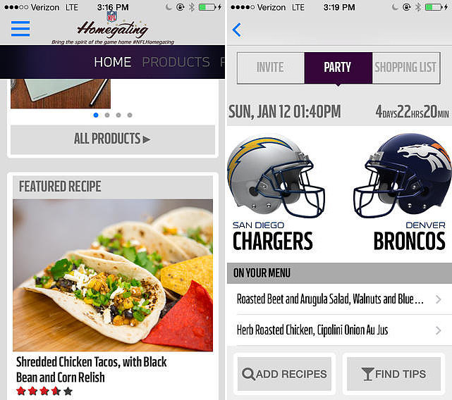 NFL Homegating App