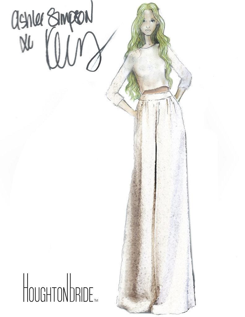 Ashlee Simpson's Houghton Wedding Sketch