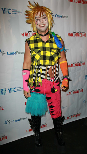 Lance Bass rocked a crazy costume at a 2011 LA party.