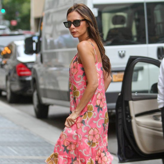 Victoria Beckham Wears Her Own Line of Footwear Street Style