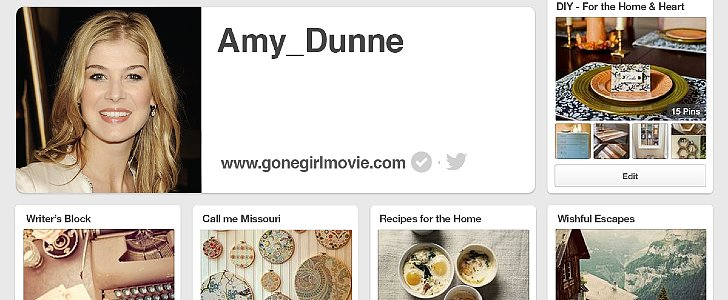 Gone Girl's Amy Dunne Has a Pinterest Account You Can Explore