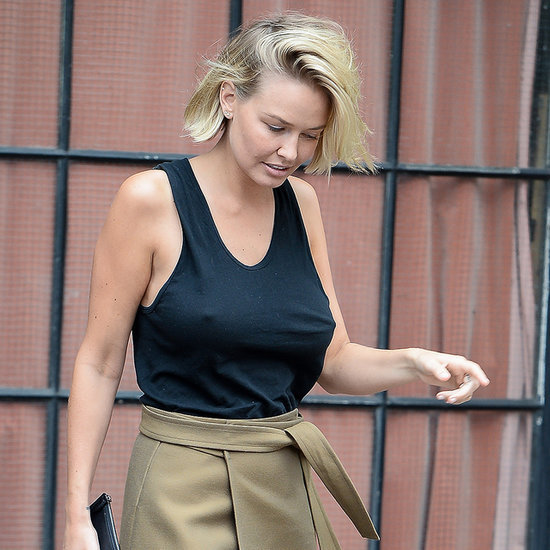 Lara Bingle Bra-Less Outfit Pictures in New York