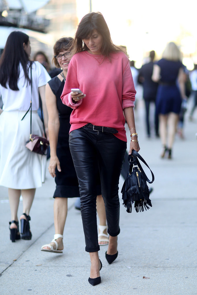 Make Your Sweatshirts Infinitely Cooler When You Add Leather Pants How To Reinvent Your
