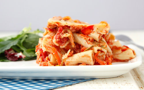Crockpot Vegetable Ziti