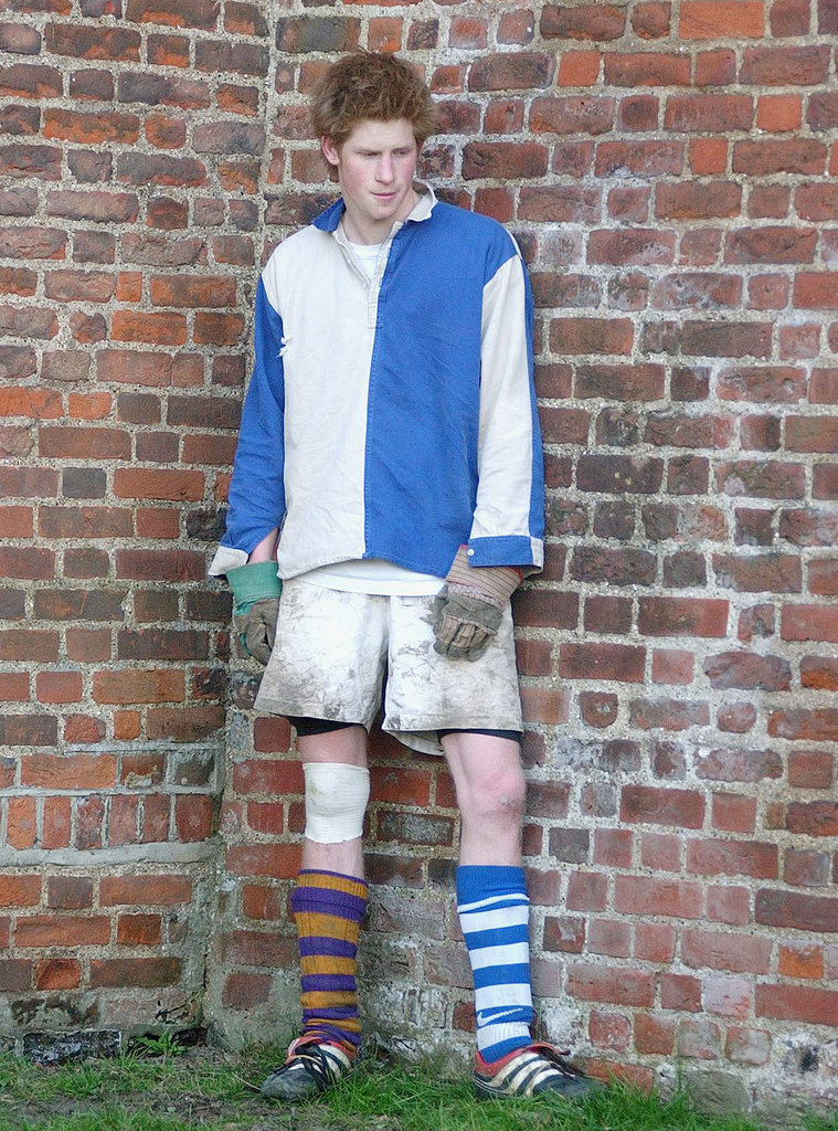 """The young prince took part in a """"Wall game"""" while attending Eton in 2003."""
