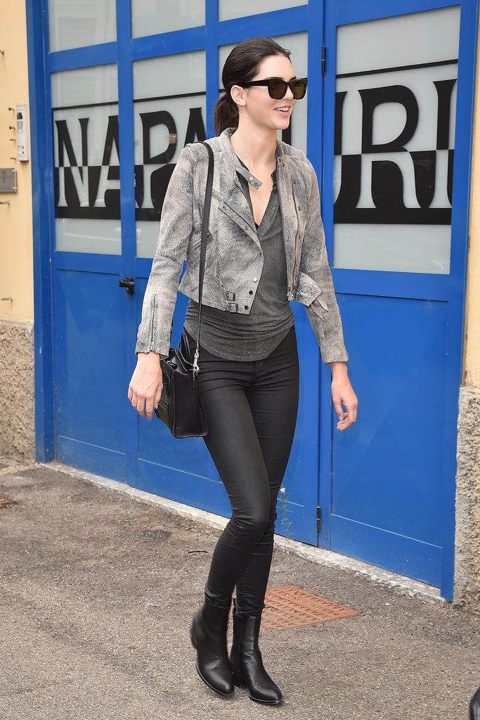 Kendall Jenner Fashion Week Spring 15 Popsugar Fashion Australia