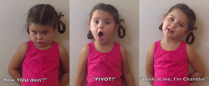 This Little Girl Is Officially the World's Cutest Friends Fan