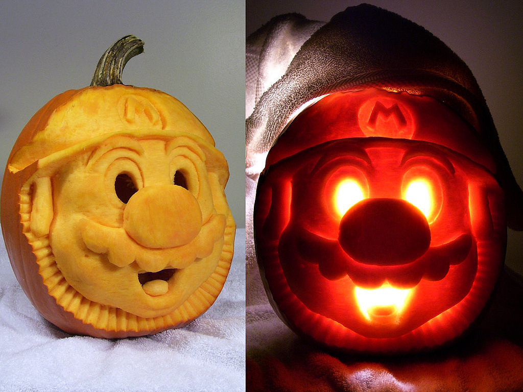 Mario Pumpkin 27 Geeky Pumpkins To Inspire Your