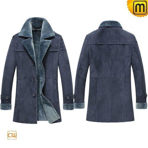 Leather Sheepskin Coats for Men CW852108