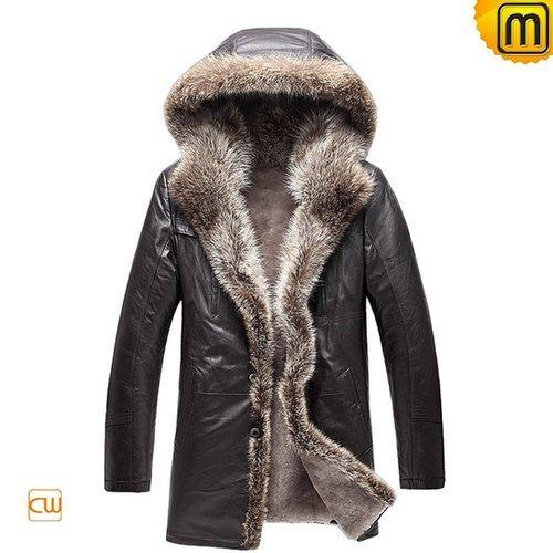 Sheepskin Leather Fur Coat Men CW877159