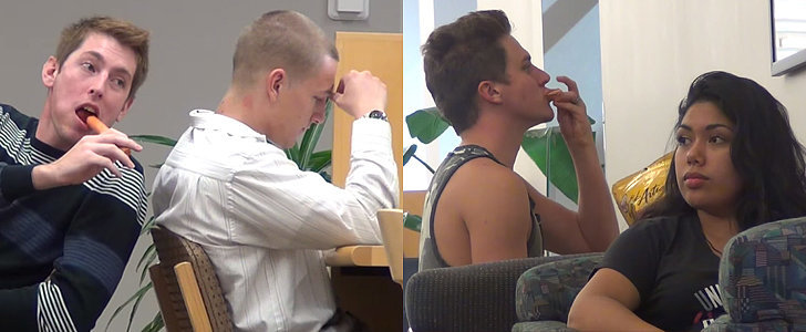 These Guys Eat So, So Loudly in a Library, and the Reactions Are Hysterical
