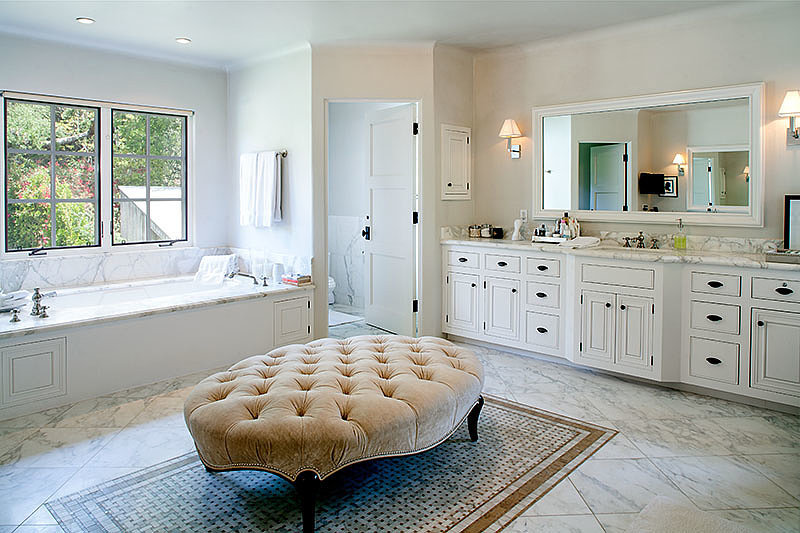 Make no mistake — this isn't a spa. It's a luxe bathroom. Source: David Offer Fine Homes