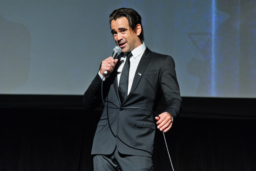 Colin Farrell took the mic at the premiere of Miss Julie at the Chicago Film Festival on Thursday.