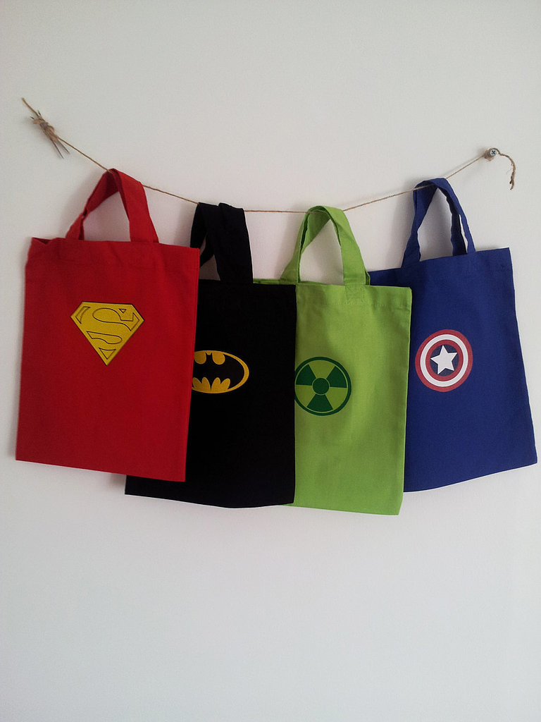 Superhero Cotton Trick-or-Treat Bags