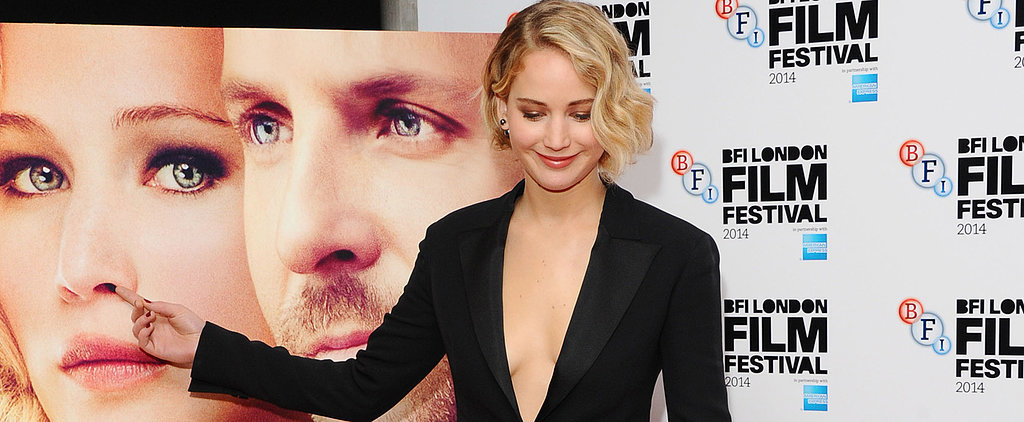 Jennifer Lawrence Picks Her Own Nose at the Serena Premiere