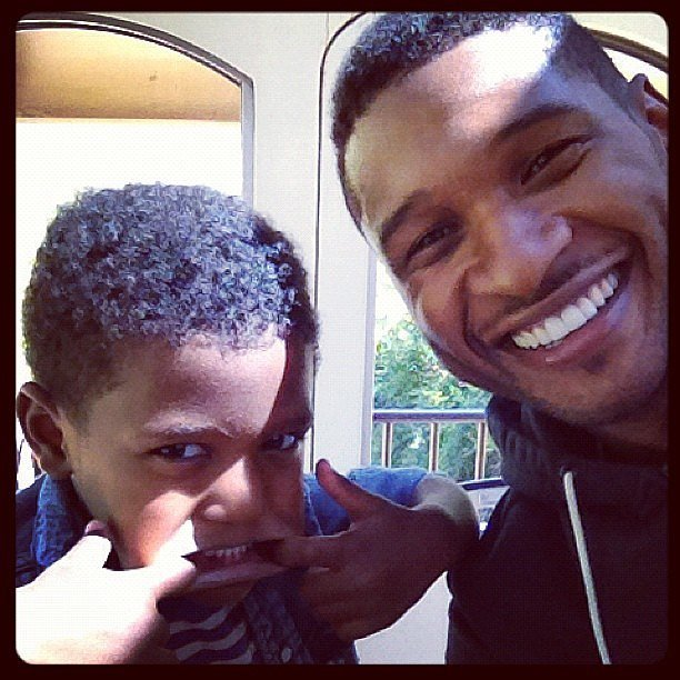 Usher and Naviyd got silly and smiley for the camera in this October 2012 Instagram snap.