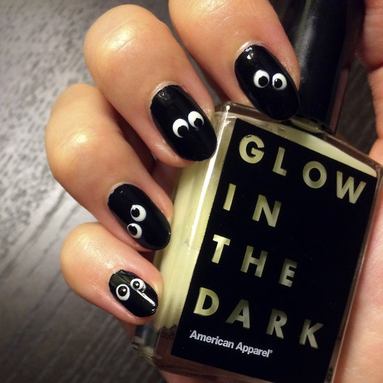 Glow-in-the-Dark Halloween Nail Art
