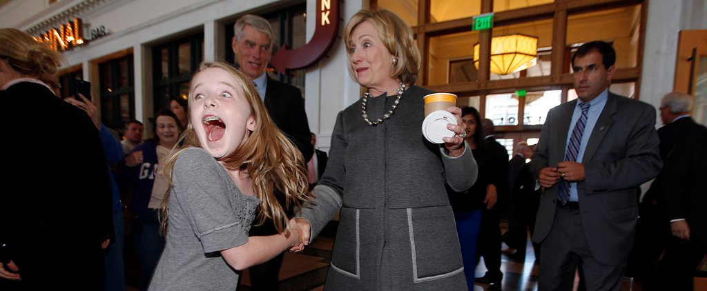 10-Year-Old Girl Meets Hillary Clinton and Proceeds to Lose Her Mind