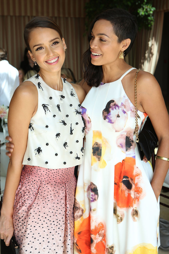 On Tuesday, Jessica Alba and Rosario Dawson glowed at the Self event in LA.