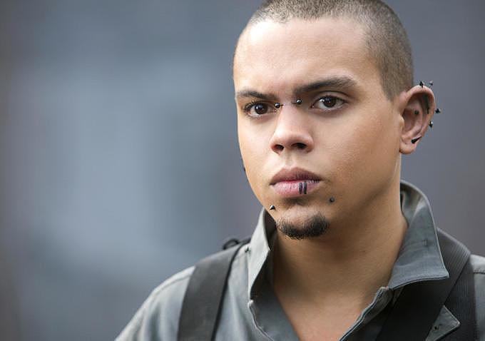 Messalla (Evan Ross) rocks a variety of interesting facial piercings.