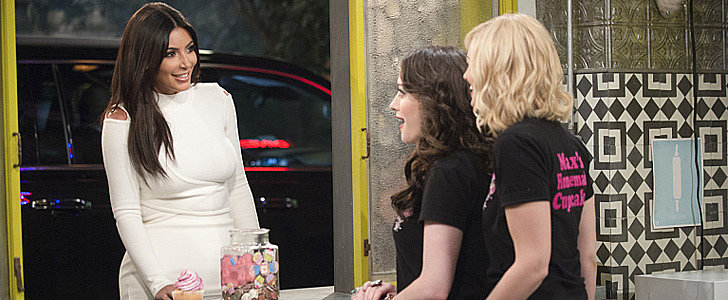 Here's Kim Kardashian Making an Appearance on 2 Broke Girls!