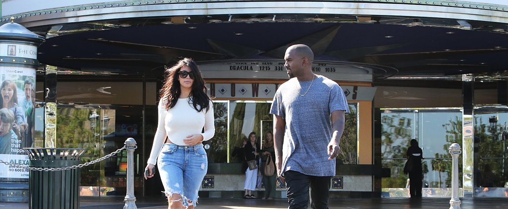 Leave It to Kim Kardashian to Make a Movie Date Totally Sexy in a Pair of Jorts